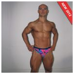 Pink Patterned Speedo